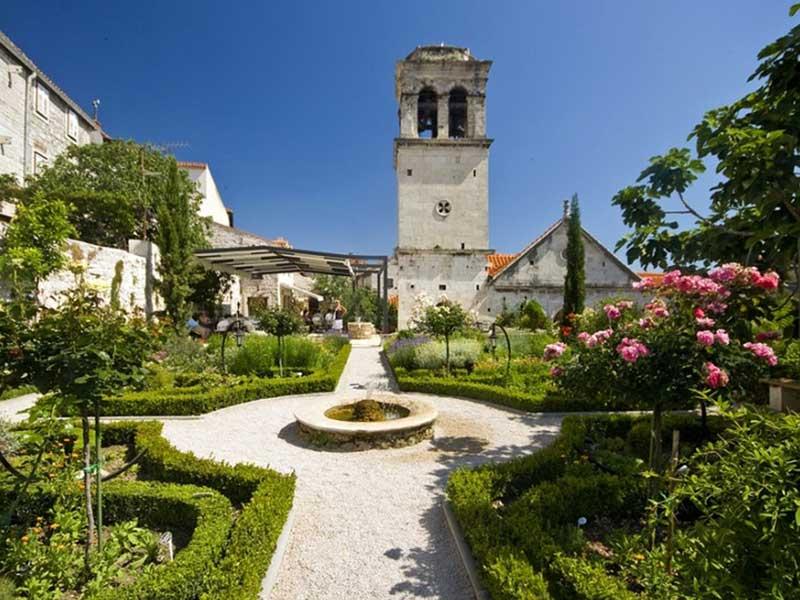 Medieval Monastery Mediterranean Garden Transfer Service Croatia